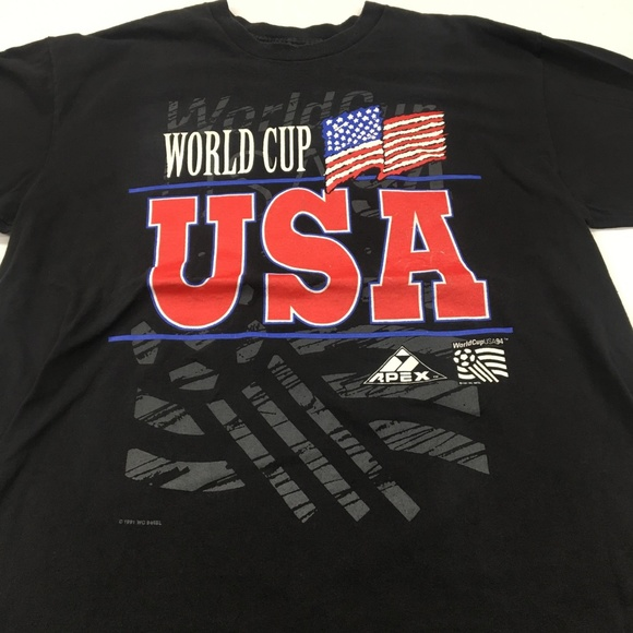 3fcd6066ef8 Apex One Shirts | World Cup Usa T Shirt Vintage 1991 Graphic Tee Xl ...